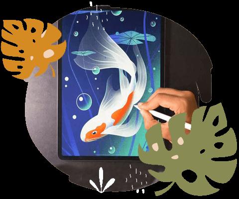 نمونه تصویرسازی حیوانات با تکنیک دیجیتال