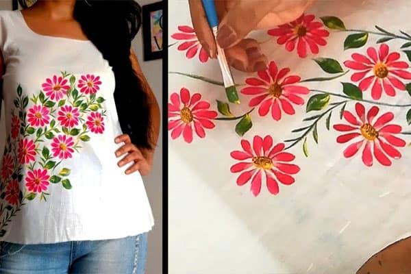 نمونه تصویرسازی روی پارچه های لباس