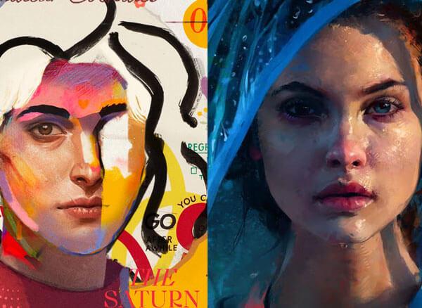 تصویر تفاوت تصویرسازی با نقاشی