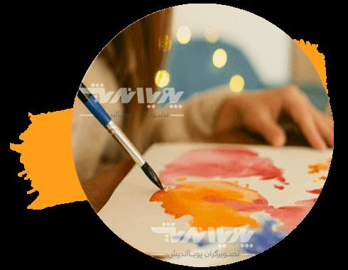 تصویر حل کردن رنگ در آب