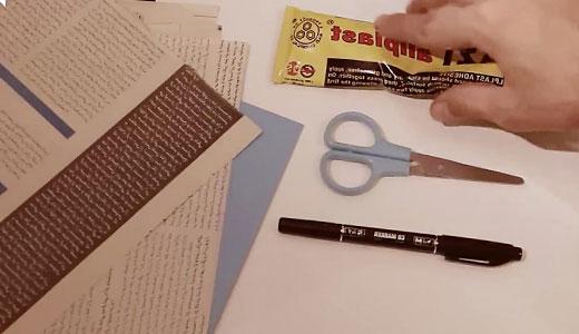 تصویر شروع ساخت کلاژ کاغذی